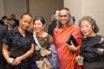 Yoshiko Wada with friends, Christina Kim and Ratana Krishna Kumar, at the Textile Museum at George Washington University, 2016.